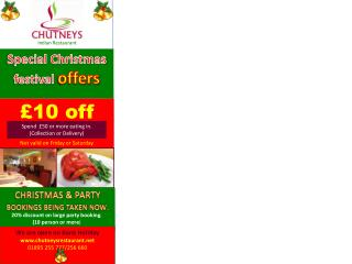 Special Christmas festival  offers