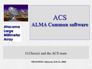 ACS ALMA Common software