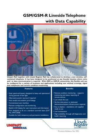 Product Bulletin No 392