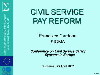 CIVIL SERVICE  PAY REFORM