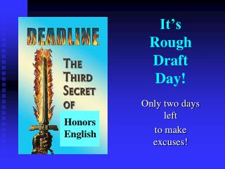 It's Rough  Draft  Day!