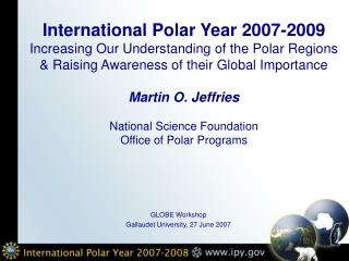 GLOBE Workshop Gallaudet University, 27 June 2007