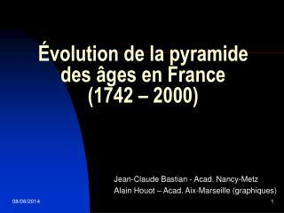 Évolution de la pyramide des âges en France  (1742 – 2000)