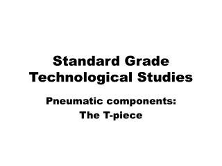 Standard Grade Technological Studies