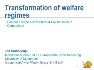 Transformation of welfare regimes