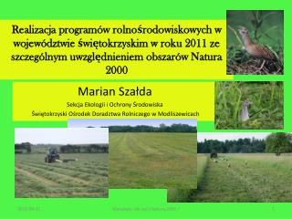 Marian Szałda Sekcja Ekologii i Ochrony Środowiska