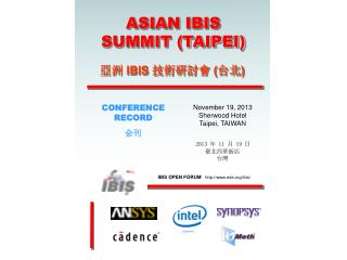 ASIAN IBIS SUMMIT (TAIPEI)