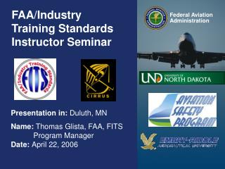 FAA/Industry Training Standards Instructor Seminar