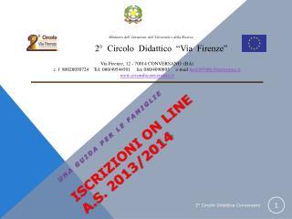 ISCRIZIONI ON LINE a.s.  2013/2014