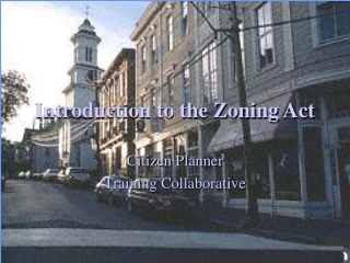 Introduction to the Zoning Act