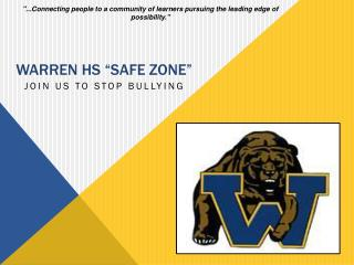 "Warren hs  ""safe zone """