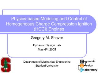 Physics-based Modeling and Control of Homogeneous Charge Compression Ignition HCCI Engines