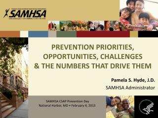 PREVENTION PRIORITIES, OPPORTUNITIES, CHALLENGES  & THE NUMBERS THAT DRIVE THEM