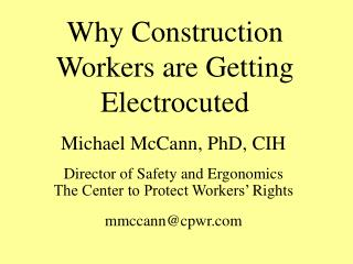 Why Construction Workers are Getting Electrocuted
