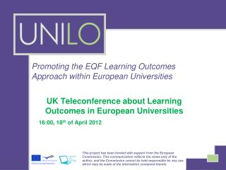 Promoting the EQF Learning Outcomes Approach within European Universities