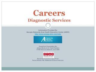Careers  Diagnostic Services