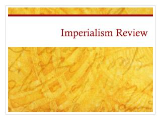 Imperialism Review
