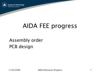 AIDA FEE progress