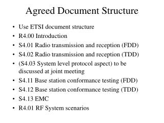 Agreed Document Structure