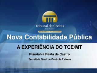 Nova Contabilidade Pública A EXPERIÊNCIA DO TCE/MT Risodalva Beata de Castro