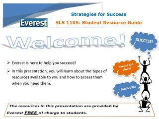 Strategies for Success SLS 1105: Student Resource Guide