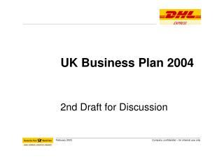 UK Business Plan 2004