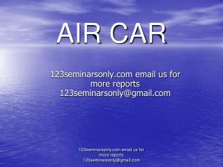 AIR CAR
