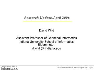 Research Update, April 2006
