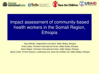 Impact assessment of community-based health workers in the Somali Region, Ethiopia