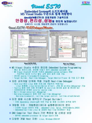 Visual ESTO Embedded System 의 소프트웨어를 MS Visual Studio  수준으로 쉽게 개발한다