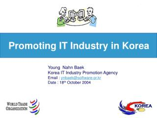 Promoting  IT Industry in Korea