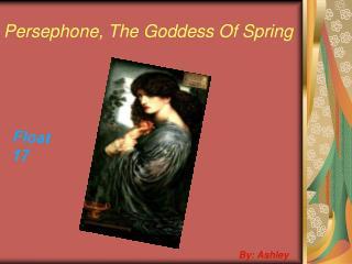 Persephone, The Goddess Of Spring