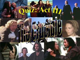 Quiz: Act III