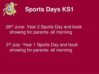 Sports Days KS1