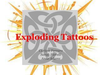 Exploding Tattoos