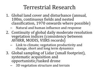 Terrestrial Research
