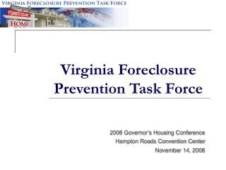 Virginia Foreclosure Prevention Task Force