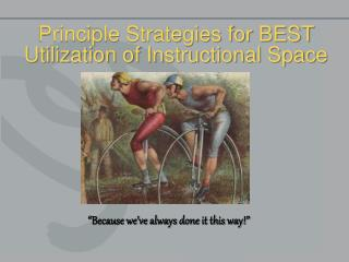 Principle Strategies for BEST Utilization of Instructional Space