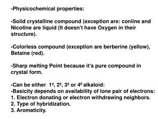 -Physicochemical properties:
