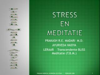 STRESS  en   MEDITATIE