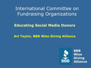 International Committee on Fundraising Organizations