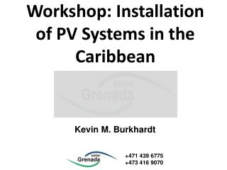 Workshop: Installation of PV Systems in the Caribbean