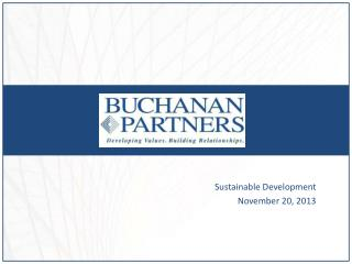 Sustainable Development November 20, 2013