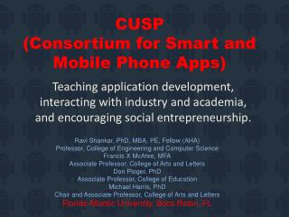 CUSP  (Consortium for Smart and Mobile Phone Apps)
