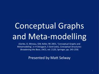 Conceptual Graphs and Meta-modelling