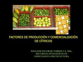 FACTORES DE PRODUCCI�N Y COMERCIALIZACI�N DE C�TRICOS