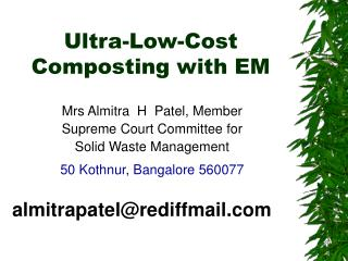Ultra-Low-Cost  Composting with EM