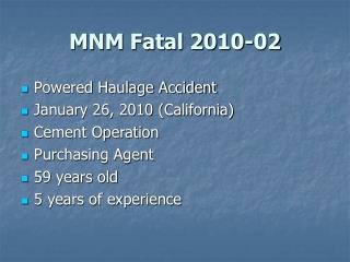 MNM Fatal 2010-02