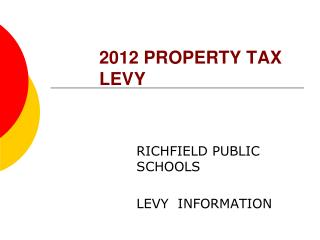 2012 PROPERTY TAX LEVY