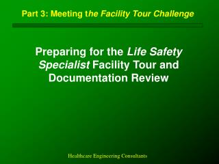 Part 3: Meeting t he Facility Tour Challenge